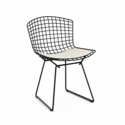 Chaise BERTOIA OUTDOOR avec galette d'assise KNOLL