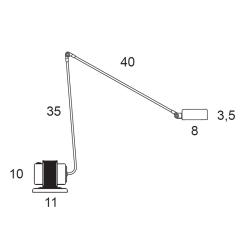 Lampe de bureau Lumina DAPHINE CLASSIC
