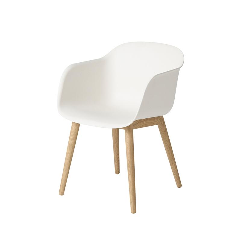 Fiber Armchair Pieds Bois Petit Fauteuil Muuto Silvera - Petit fauteuil en bois