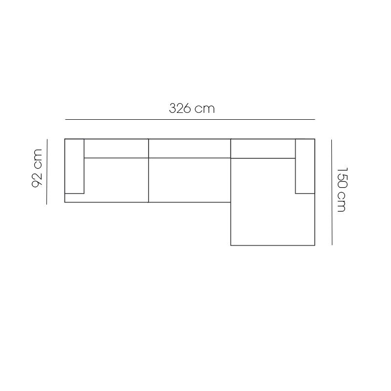 CONNECT Composition 3 modules L 326 x P 150