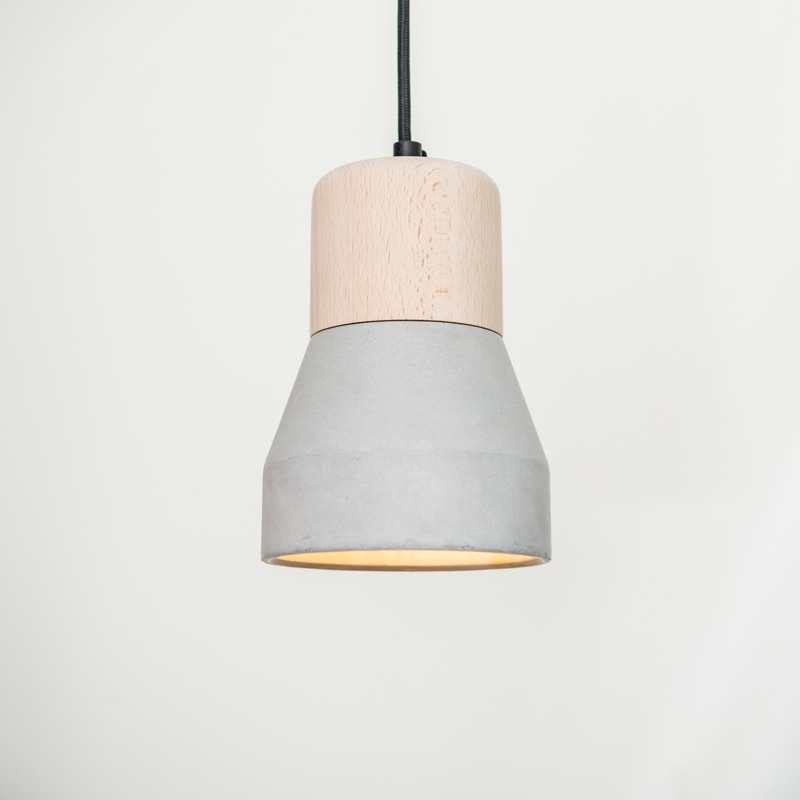 CEMENT WOOD LAMP A