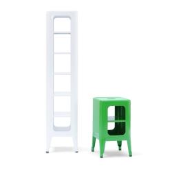 Meuble tabouret h133 meuble de rangement tolix - Meuble tolix ...
