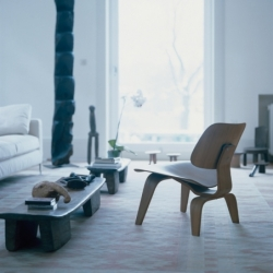 Fauteuil Vitra LCW Calf's Skin