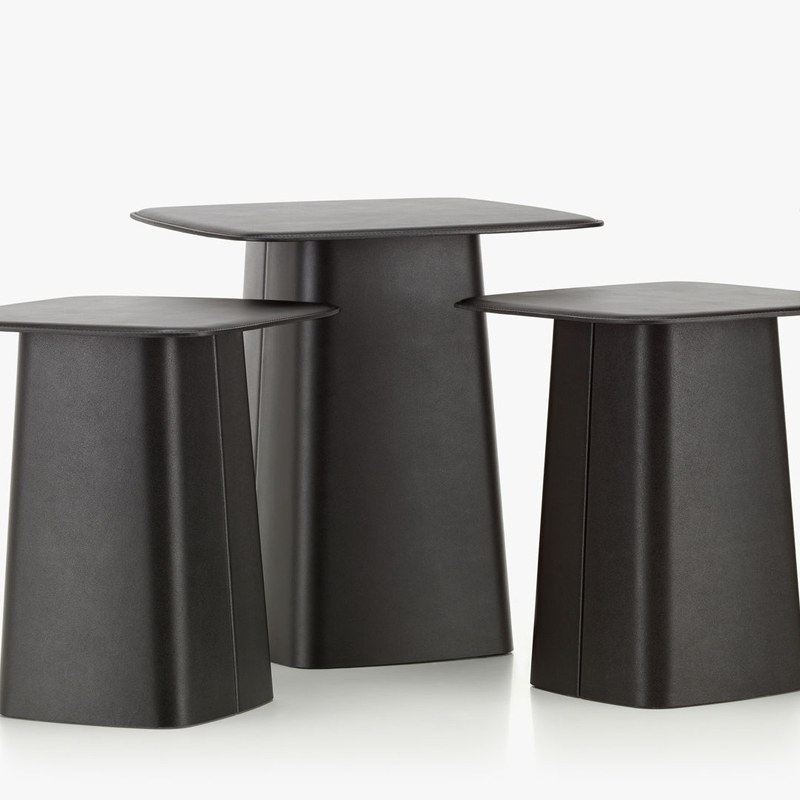 LEATHER SIDE TABLE S