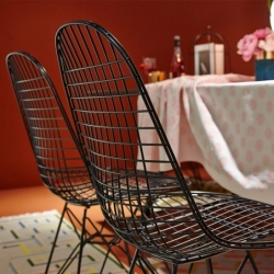 Chaise Vitra EAMES WIRE CHAIR DKR