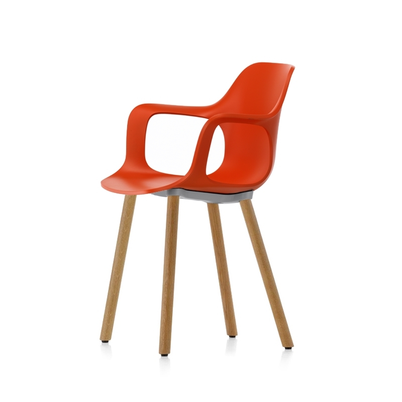 Petit Fauteuil Vitra HAL ARMCHAIR WOOD