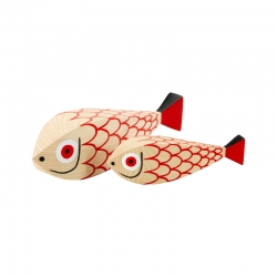 WOODEN DOLL Mother Fish & Child VITRA