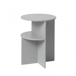 Table d'appoint guéridon HALVES SIDE TABLE MUUTO