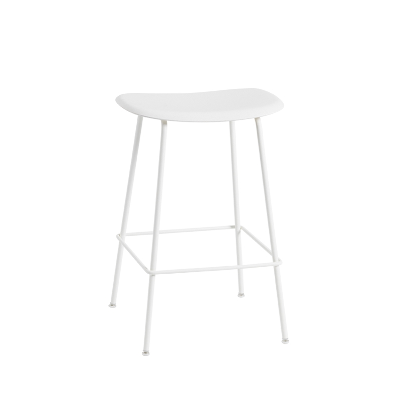 fiber bar stool pieds acier h65 tabouret haut muuto. Black Bedroom Furniture Sets. Home Design Ideas
