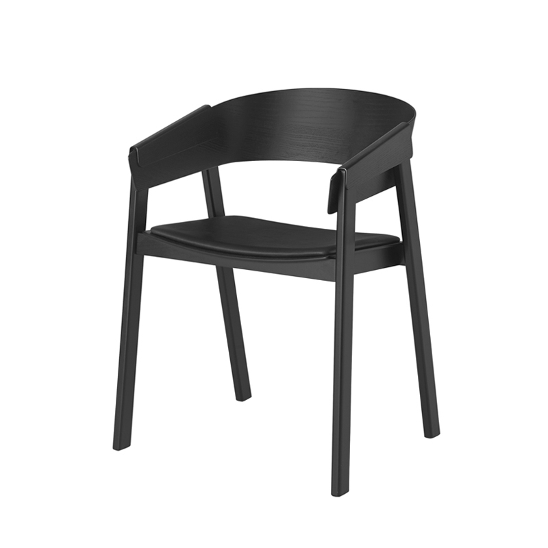 petit fauteuil cover chair cuir muuto silvera. Black Bedroom Furniture Sets. Home Design Ideas