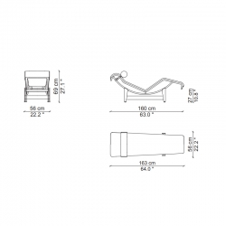 Fauteuil Cassina Chaise longue LC4