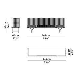 Meuble de rangement Baxter made in italy / Meuble bar GUELL L245