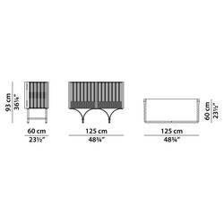 Meuble de rangement Baxter made in italy / Meuble bar GUELL L125
