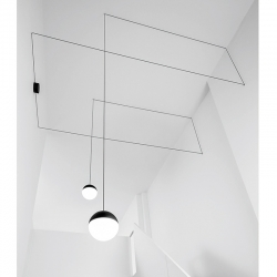 Suspension Flos STRING LIGHT Rosace pour plafond/mur