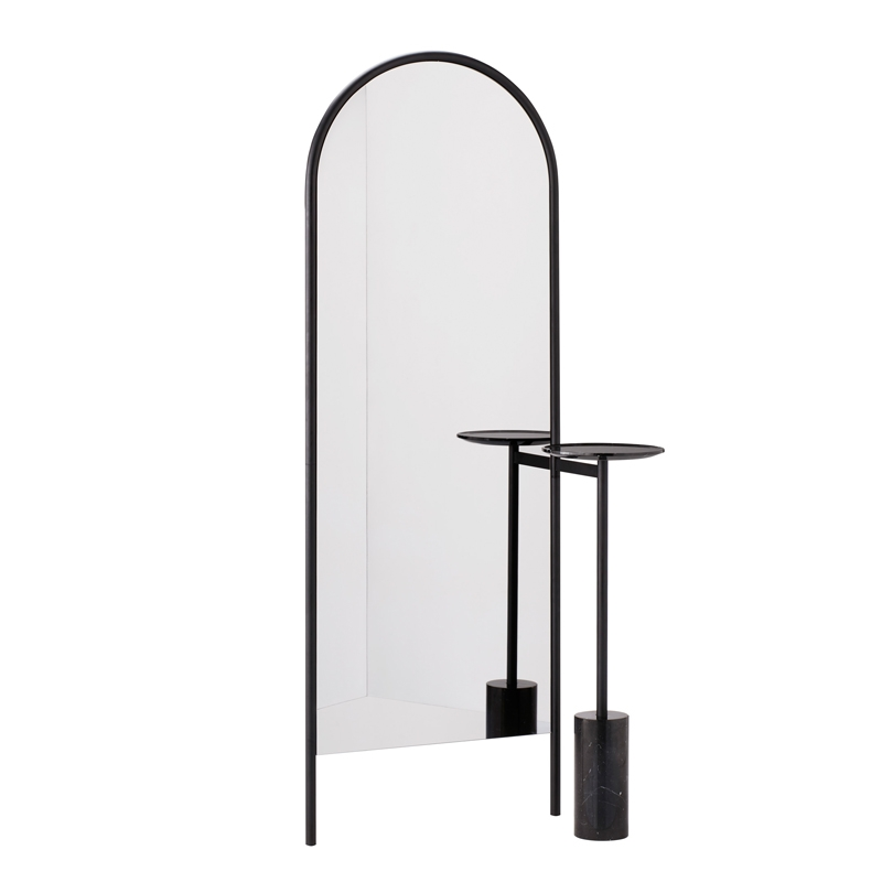 Miroir sur pied michelle miroir sp01 silvera for The miroir noir
