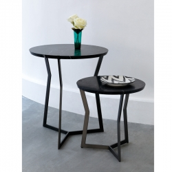 Table d'appoint guéridon Coedition STAR MINI Marquina