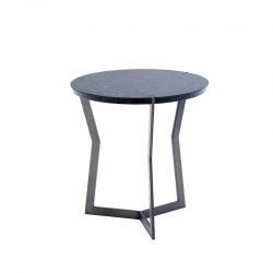 Table d'appoint guéridon STAR MINI Marquina COEDITION