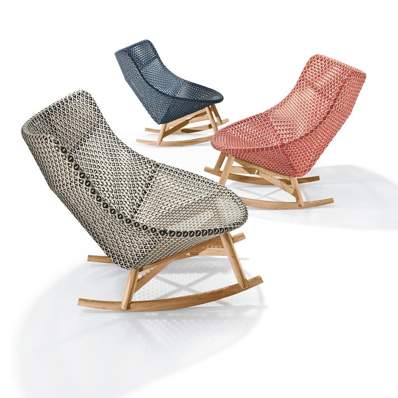 fauteuil mbrace fauteuil bascule dedon silvera. Black Bedroom Furniture Sets. Home Design Ideas