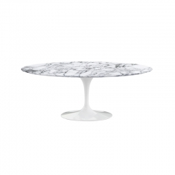 Table SAARINEN Ovale plateau marbre KNOLL