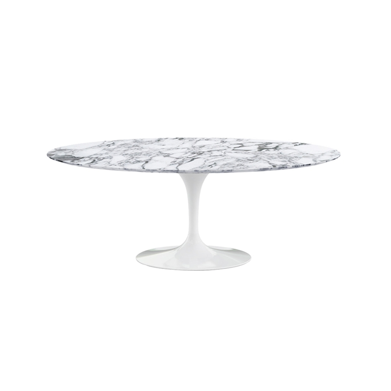 Saarinen ovale plateau marbre table knoll - Table knoll ovale marbre blanc ...
