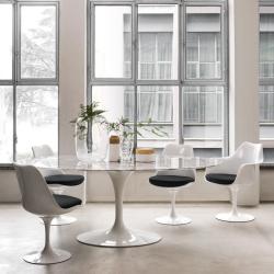 Table Knoll SAARINEN Ovale marbre Arabescato