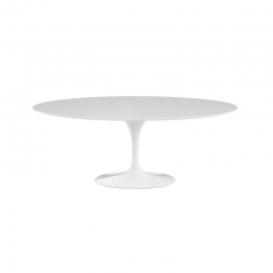 Table SAARINEN Ovale plateau stratifié KNOLL