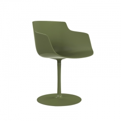 Petit Fauteuil Mdf FLOW SLIM COLOR pied central