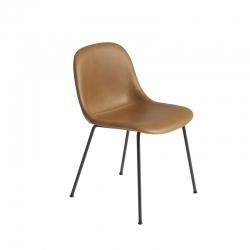 Chaise FIBER CHAIR 4 pieds acier coque cuir MUUTO