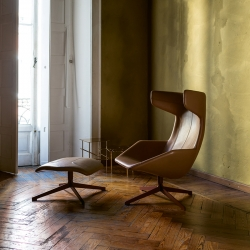 Fauteuil Moroso TAKE A LINE FOR A WALK cuir