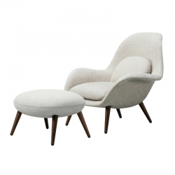 Fauteuil SWOON CHAIR & OTTOMAN FREDERICIA