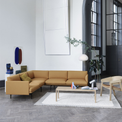 Fauteuil Muuto COVER LOUNGE assise cuir