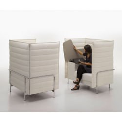 Fauteuil lounge Vitra ALCOVE HIGHBACK WORK