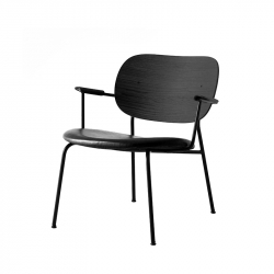 Fauteuil CO LOUNGE CHAIR assise cuir MENU