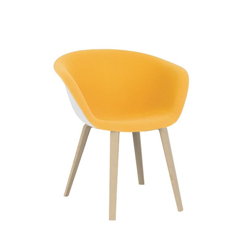 Duna Pieds Bois Petit Fauteuil Arper Silvera - Petit fauteuil en bois