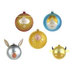 Objet insolite & décoratif Alessi Set 5 boules de Noël PALLE PRESEPE