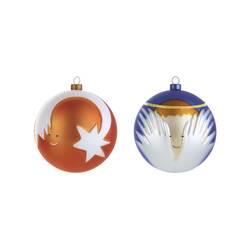 Objet insolite & décoratif Set 2 boules de Noël Palle Presepe : ange et étoile filante ALESSI