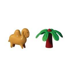 Objet insolite & décoratif Set de 2 figurines  DARIO DROMEDARIO & PALMITA ALESSI