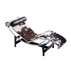 Fauteuil Chaise longue LC4 peau tachetée CASSINA