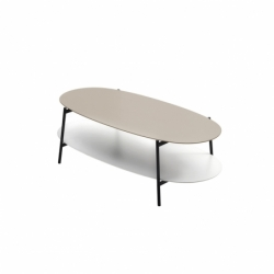 Table basse SHIKA L 110 piètement noir COEDITION