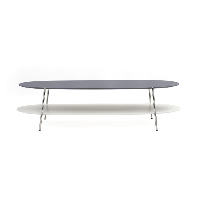 Table basse Coedition SHIKA L 140 piètement chrome