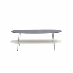 Table basse SHIKA L 110 piètement chrome COEDITION