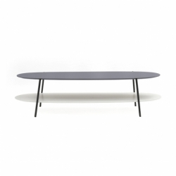 Table basse Coedition SHIKA L 140 piètement noir