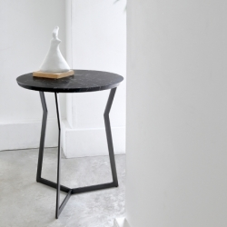 Table d'appoint guéridon Coedition STAR Marquina