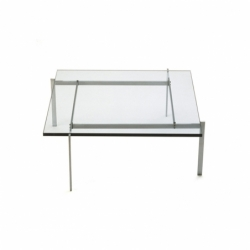 Table basse Fritz hansen PK 61A Verre