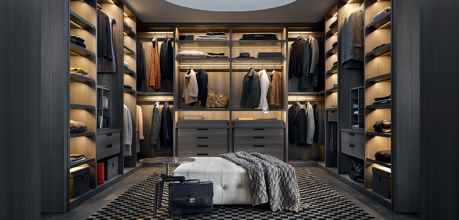 dressing poliform sur mesure am nagement dressing sur. Black Bedroom Furniture Sets. Home Design Ideas
